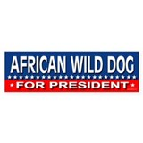 AFRICAN WILD DOG Bumper Bumper Sticker