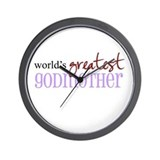 World's Greatest Godmother Wall Clock
