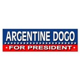 ARGENTINE DOGO Bumper Car Sticker