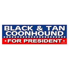 BLACK TAN COONHOUND Bumper Bumper Sticker
