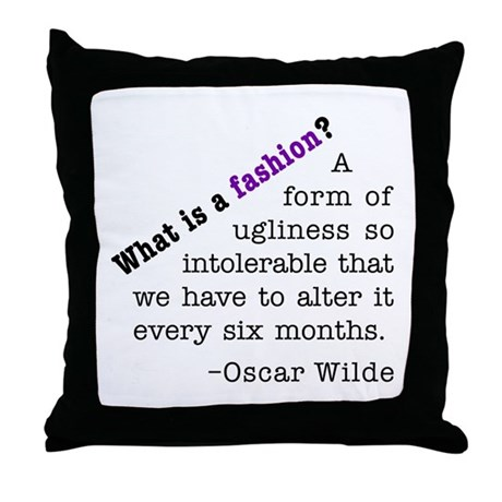 Wilde About Fashion Throw Pillow