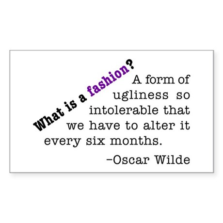 Wilde About Fashion Rectangle Sticker