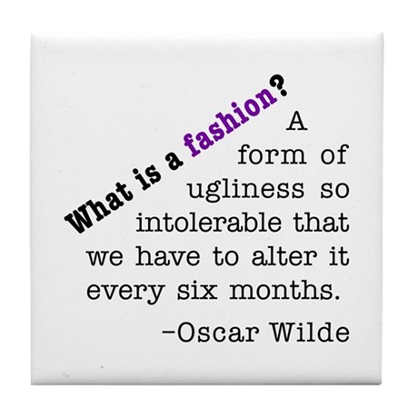 Wilde About Fashion Tile Coaster