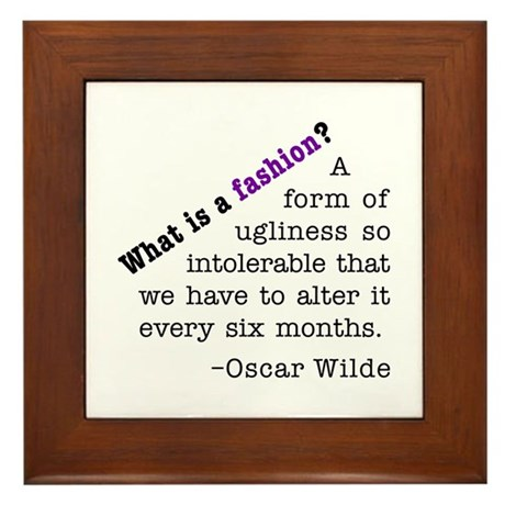 Wilde About Fashion Framed Tile