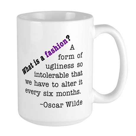 Wilde About Fashion Large Mug