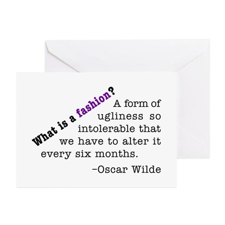 Wilde About Fashion Greeting Cards (Pk of 20)