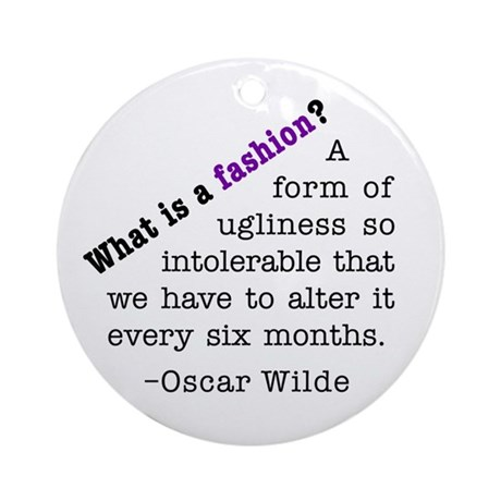 Wilde About Fashion Ornament (Round)