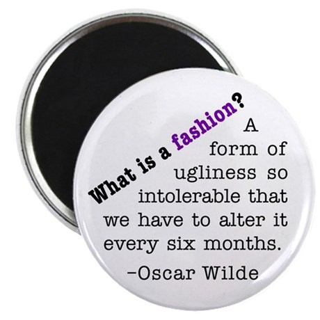 "Wilde About Fashion 2.25"" Magnet (10 pack)"