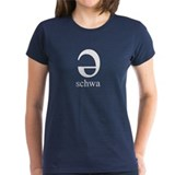 Women's dark schwa t-shirt.