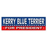 KERRY BLUE TERRIER Bumper Car Sticker