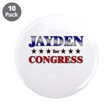 "JAYDEN for congress 3.5"" Button (10 pack)"