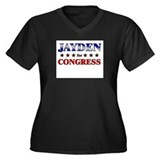 JAYDEN for congress Women's Plus Size V-Neck Dark