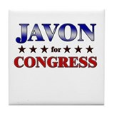 JAVON for congress Tile Coaster