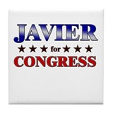 JAVIER for congress Tile Coaster
