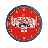 England Football/Soccer Wall Clock