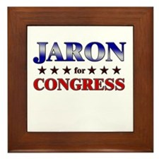 JARON for congress Framed Tile