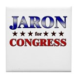 JARON for congress Tile Coaster