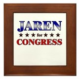 JAREN for congress Framed Tile