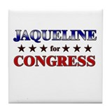 JAQUELINE for congress Tile Coaster