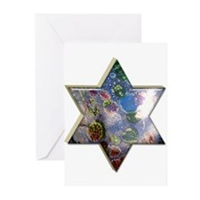 Star of David Hanukkah Cards (20 in pack)
