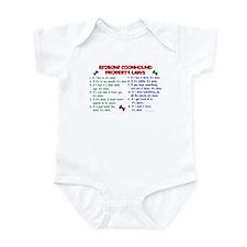 Redbone Coonhound Property Laws 2 Infant Bodysuit