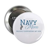 "Navy Mom 2.25"" Button"