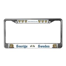 Cute Scandinavia License Plate Frame