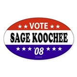 SAGE KOOCHEE Oval Decal