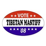 TIBETAN MASTIFF Oval Decal