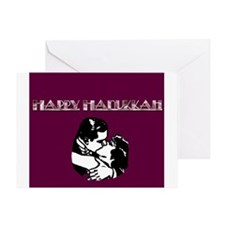 Romantic Art Deco Hanukkah Card
