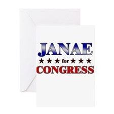 JANAE for congress Greeting Card