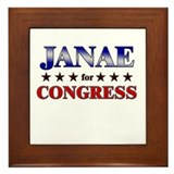 JANAE for congress Framed Tile