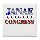 JANAE for congress Tile Coaster