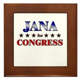 JANA for congress Framed Tile
