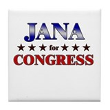 JANA for congress Tile Coaster