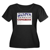 JAMYA for congress Women's Plus Size Scoop Neck Da