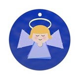 Holiday Angel Ornament (Round)
