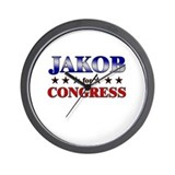 JAKOB for congress Wall Clock