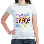 Floral Figure Skater Jr. Ringer T-Shirt