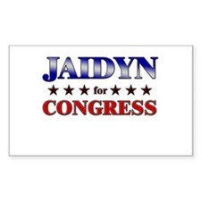 JAIDYN for congress Rectangle Decal