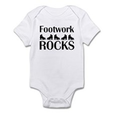 Footwork Rocks Black Infant Bodysuit
