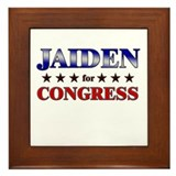 JAIDEN for congress Framed Tile