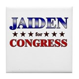 JAIDEN for congress Tile Coaster