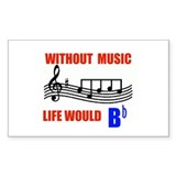 MUSIC B FLAT Rectangle Decal