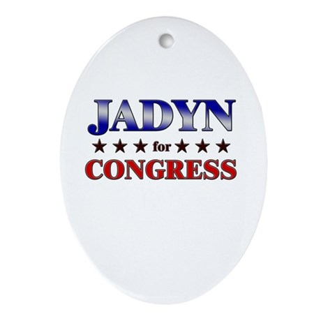 JADYN for congress Oval Ornament