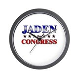JADEN for congress Wall Clock