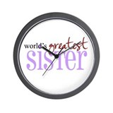 World's Greatest Sister Wall Clock