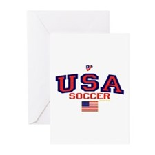 USA American Soccer Greeting Cards (Pk of 10)