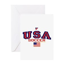 USA American Soccer Greeting Card