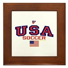 USA American Soccer Framed Tile